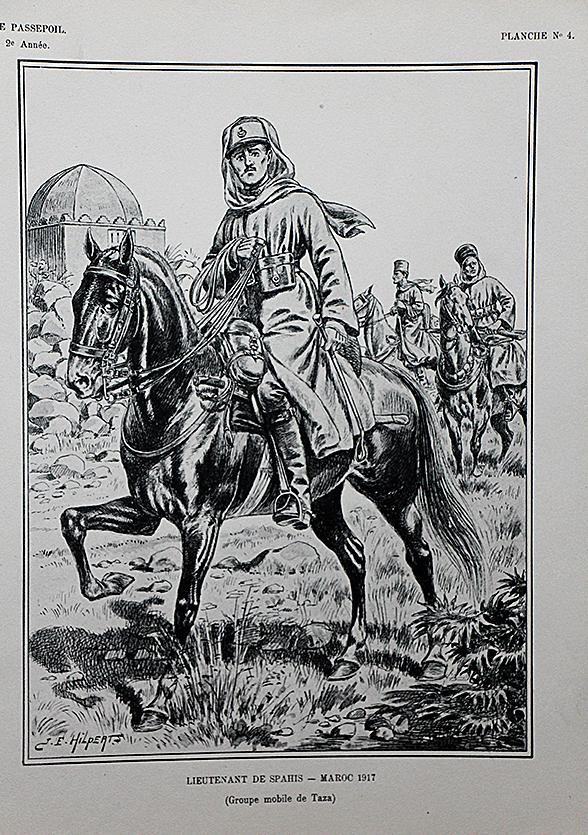 Spahis Lieutenant 1917