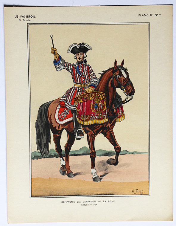 Gendarmes de la Reine 1724