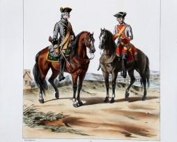 Cavalerie- Mestre de Camp/Chabrillan - Uniformes Louis XV - 1758- Planche 185 - Alfred de Marbot