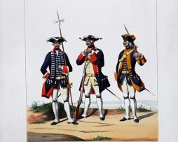 Infanterie Etrangère - Pologne/Alsace/Suedois - Uniformes Louis XV - 1757- Planche 182 - Alfred de Marbot