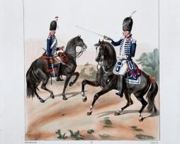 Cavalerie - Nassau Saarbruck/Royal Allemand - Uniformes Louis XVI - 1786- Planche 286 - Alfred de Marbot