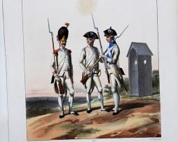 Régiments Provinciaux- Grenadiers Royaux/Provinces/Paris - Uniformes Louis XVI - 1786- Planche 281- Alfred de Marbot