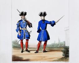 Maréchaussée de France - Gardes de la Connétable - Uniformes Louis XV - 1724- Planche 135- Alfred de Marbot