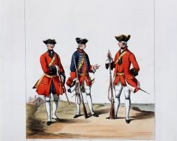 Infanterie Etrangère - Wittemer/Ecossais/Dillon - Uniformes Louis XVI - 1762 - Planche 199- Alfred de Marbot