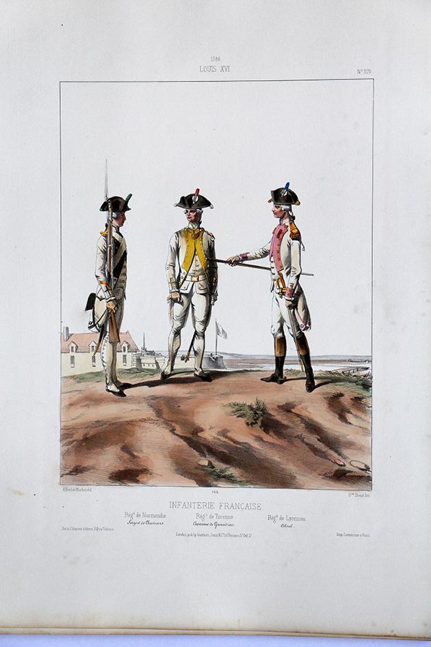 Infanterie Française - Régiments - Uniformes Louis XVI - 1786 - Planche 276- Alfred de Marbot