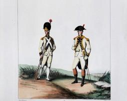 Infanterie Française - Régiment du Roi - Uniformes Louis XVI - 1786 - Planche 274 - Alfred de Marbot