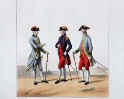 Etat Major Général - Médecins- Uniformes Louis XVI - 1786 - Planche 272 - Alfred de Marbot