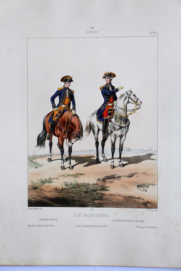 Etat Major Général - Aide - Uniformes Louis XVI - 1786 - Planche 270 - Alfred de Marbot