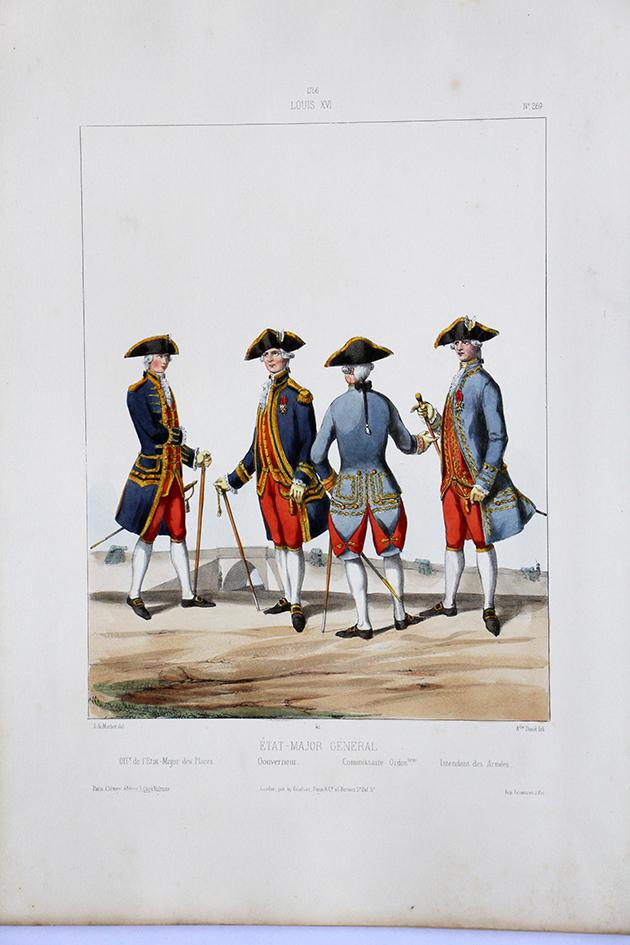 Etat Major Général - Officiers - Uniformes Louis XVI - 1786 - Planche 269 - Alfred de Marbot