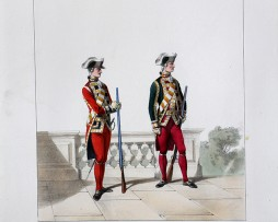 Maison de Princes - Garde de la Porte - Uniformes Louis XVI - 1786 - Planche 249- Alfred de Marbot