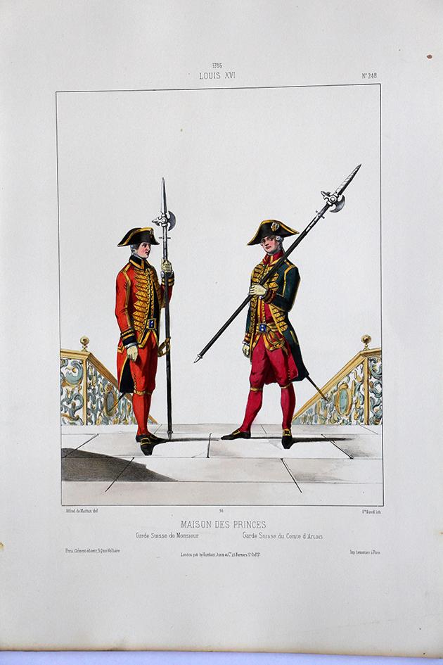 Maison de Princes - Garde Suisse - Uniformes Louis XVI - 1786 - Planche 248- Alfred de Marbot