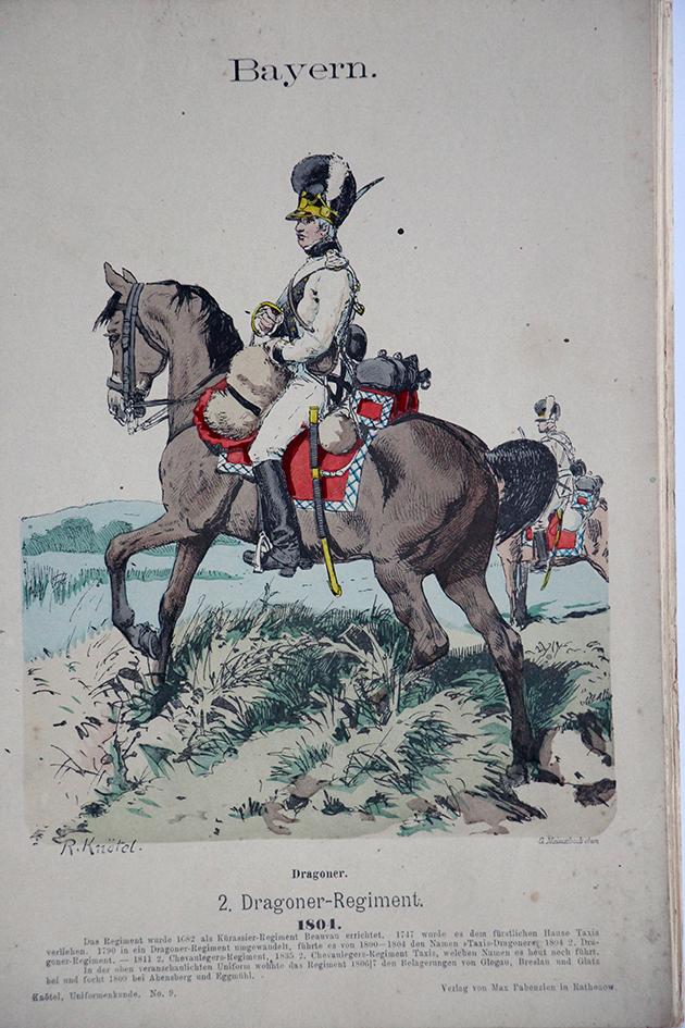 Bayern 1801 - Uniformenkunde - Richard Knötel - V1 - Planche 9