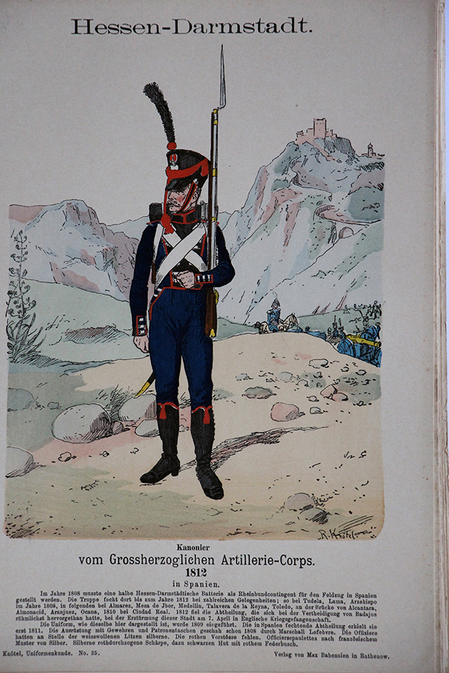 Hessen Darmstadt 1812 - Uniformenkunde - Richard Knötel - V1 - Planche 35