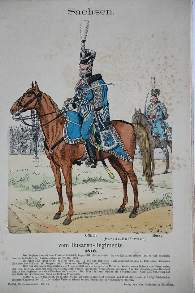 Sachsen 1810 - Uniformenkunde - Richard Knötel - V1 - Planche 46
