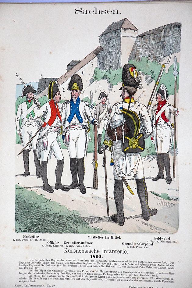 Sachsen 1802 - Uniformenkunde - Richard Knötel - V1 - Planche 29