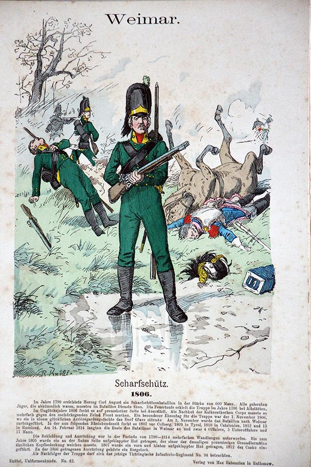 Weimar 1806 - Uniformenkunde - Richard Knötel - V1 - Planche 42