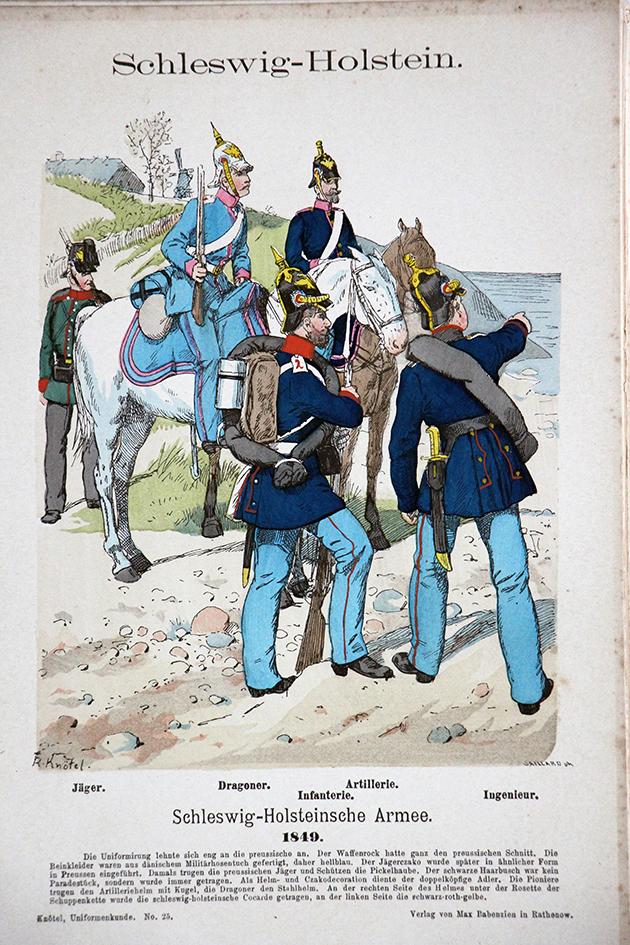 Schleswig Holstein 1849 - Uniformenkunde - Richard Knötel - V1 - Planche 23