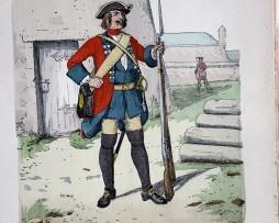 Kur-Sachsen 1711 - Uniformenkunde - Richard Knötel - V1 - Planche 37