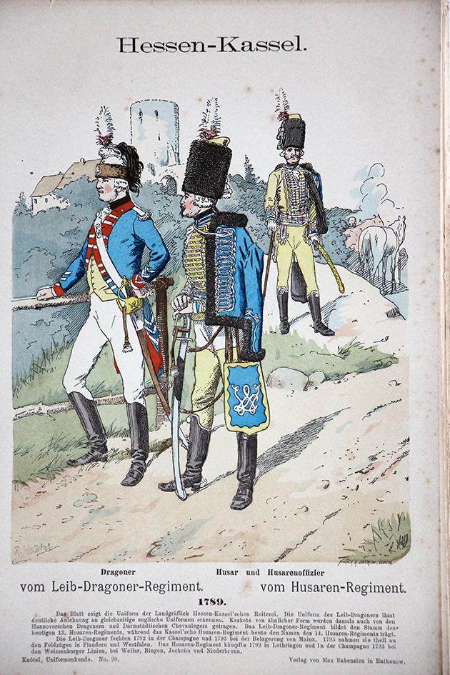 Hessen Kassel 1789 - Uniformenkunde - Richard Knötel - V1 - Planche 20