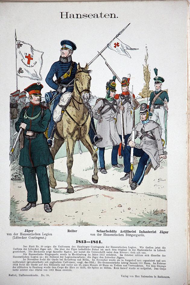 Hanseaten 1813-1814 - Uniformenkunde - Richard Knötel - V1 - Planche 38