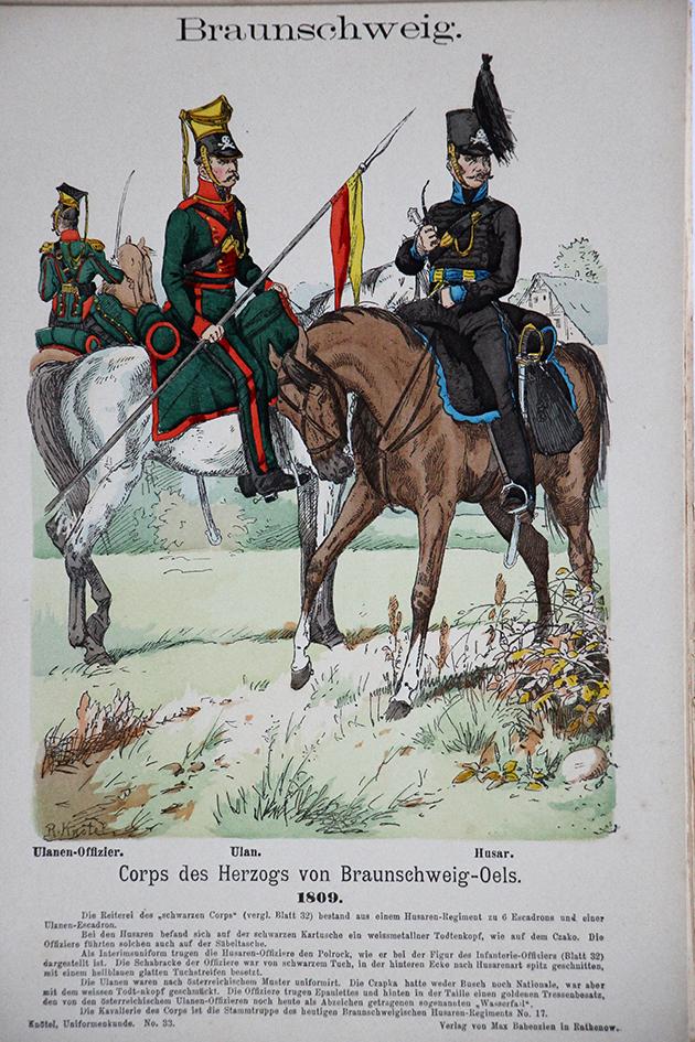 Braunschweig 1809 - Uniformenkunde - Richard Knötel - V1 - Planche 33