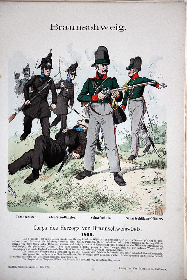Braunschweig 1809 - Uniformenkunde - Richard Knötel - V1 - Planche 32