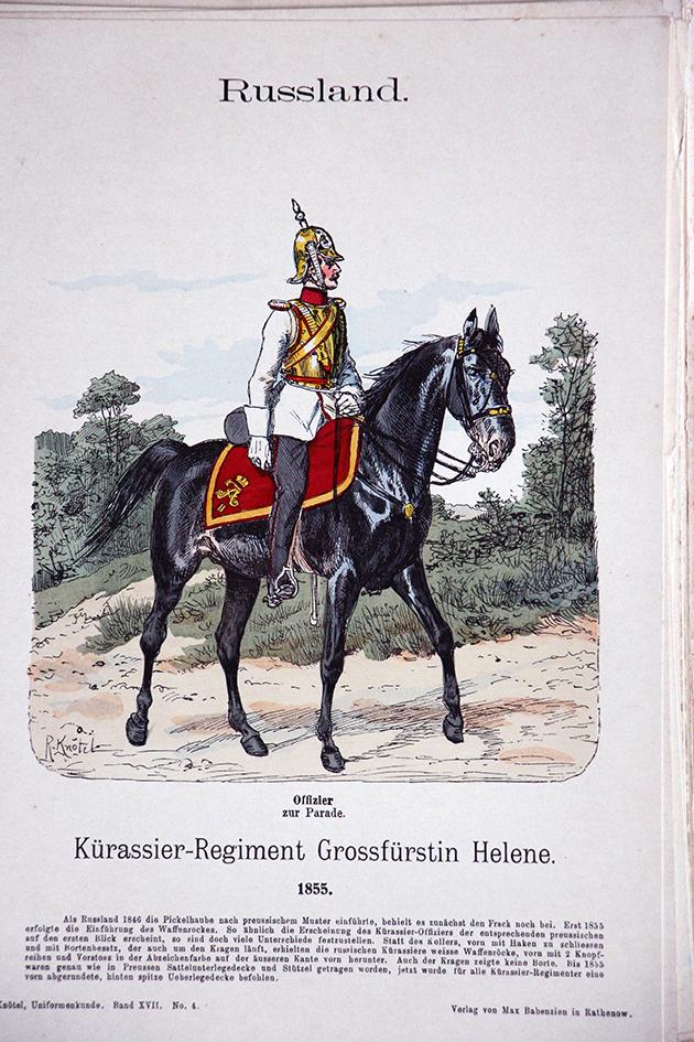 Russland 1855 - Uniformenkunde - Richard Knötel - XVII - Planche 4
