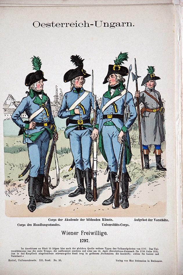 Oesterreich - Ungarn 1797 Uniformenkunde - Richard Knötel - XII- Planche 26