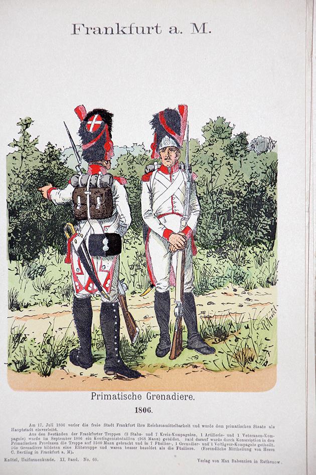 Frankfurt am Main 1806 - Uniformenkunde - Richard Knötel - XI - Planche 60