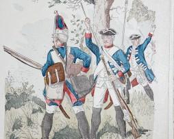 Preussen 1756 - Uniformenkunde - Richard Knötel - X- Planche 36