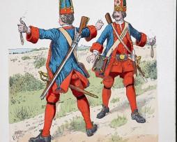 Preussen 1713 - Uniformenkunde - Richard Knötel - X- Planche 15