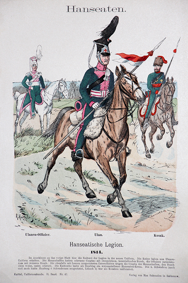 Hanseaten 1814- Uniformenkunde - Richard Knötel - II- Planche 47