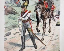 Sachsen 1813 - Uniformenkunde - Richard Knötel - II- Planche 49