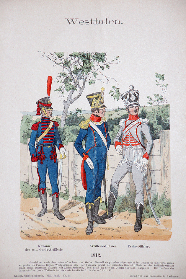 Westfalen 1812 - Uniformenkunde - Richard Knötel - VIII- Planche 34