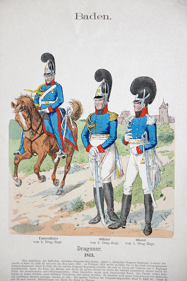 Baden 1813 - Uniformenkunde - Richard Knötel - VIII- Planche 50