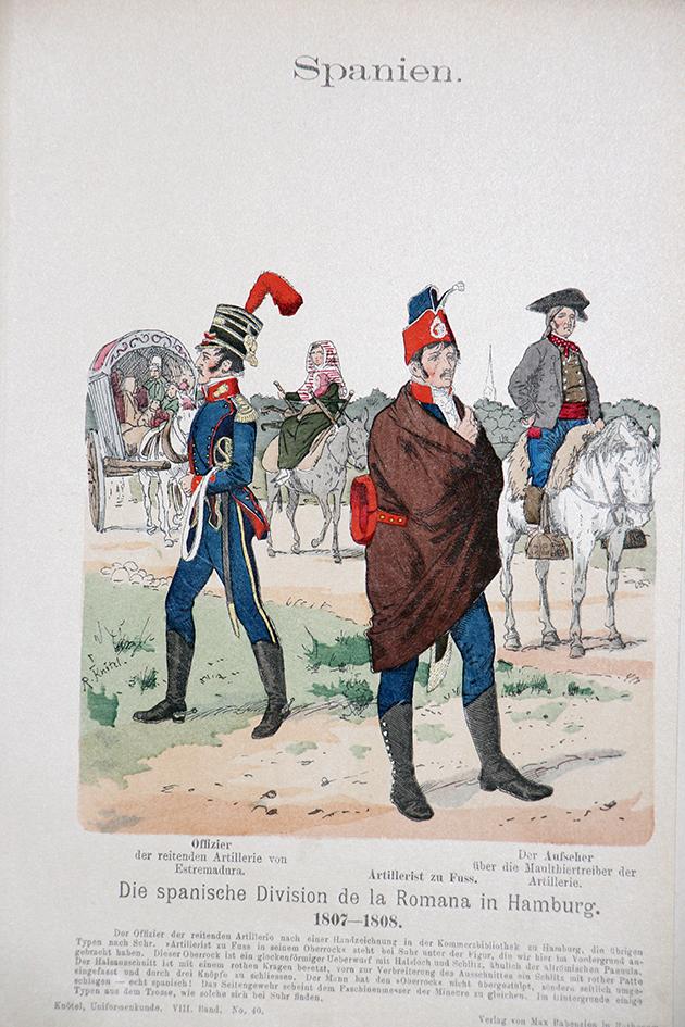Spanien 1807/1808 - Uniformenkunde - Richard Knötel - VIII- Planche 40