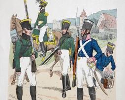 Baden 1813- Uniformenkunde - Richard Knötel - VIII- Planche 51