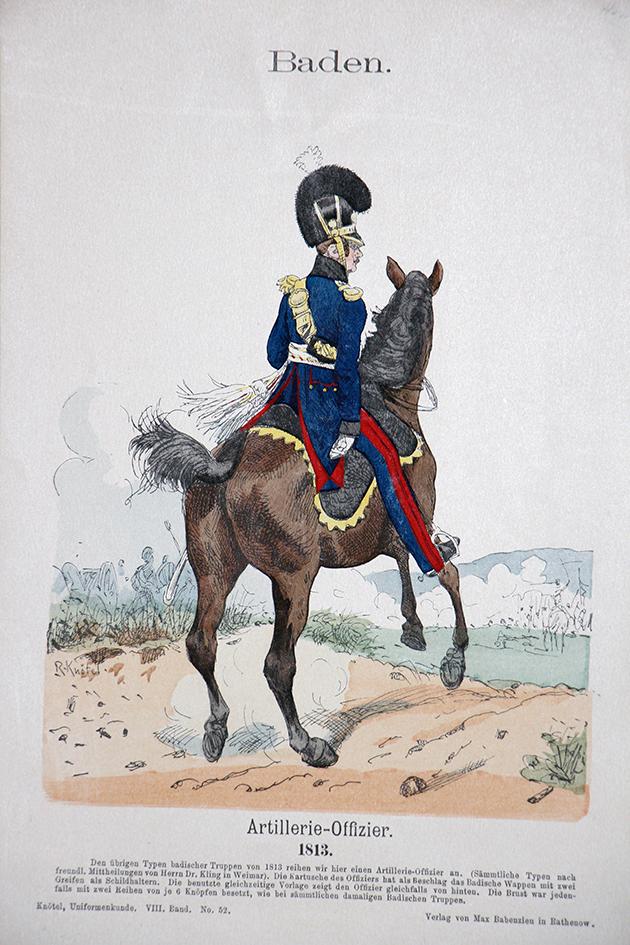 Baden 1813- Uniformenkunde - Richard Knötel - VIII- Planche 52