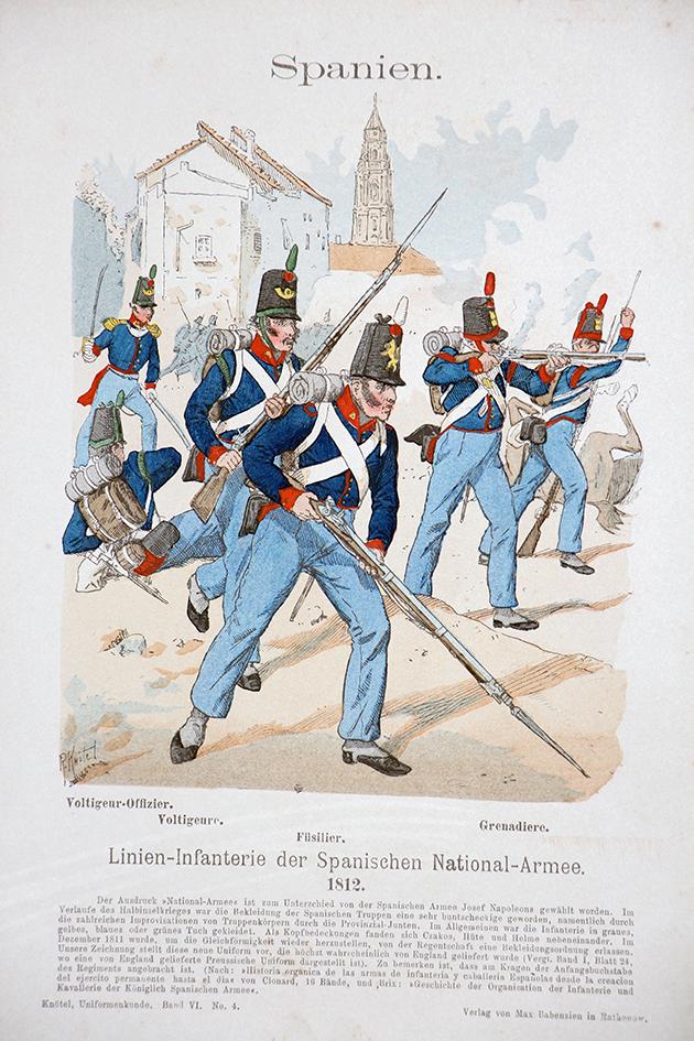 Spanien 1812 - Uniformenkunde - Richard Knötel - VI- Planche 4