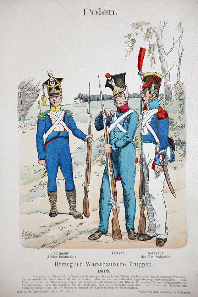 Polen 1812 - Uniformenkunde - Richard Knötel - IV- Planche 9