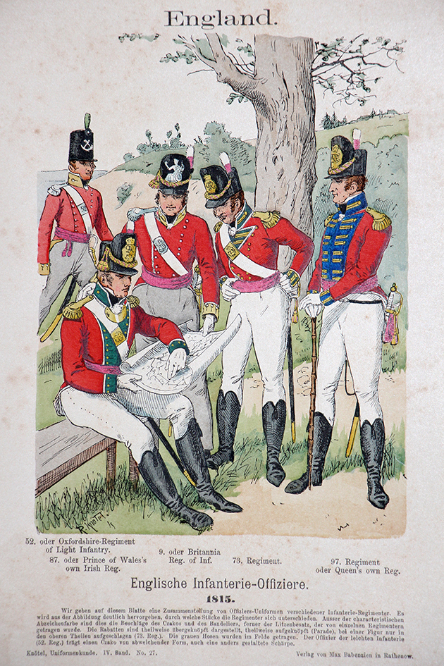 England 1815 - Uniformenkunde - Richard Knötel - IV- Planche 27