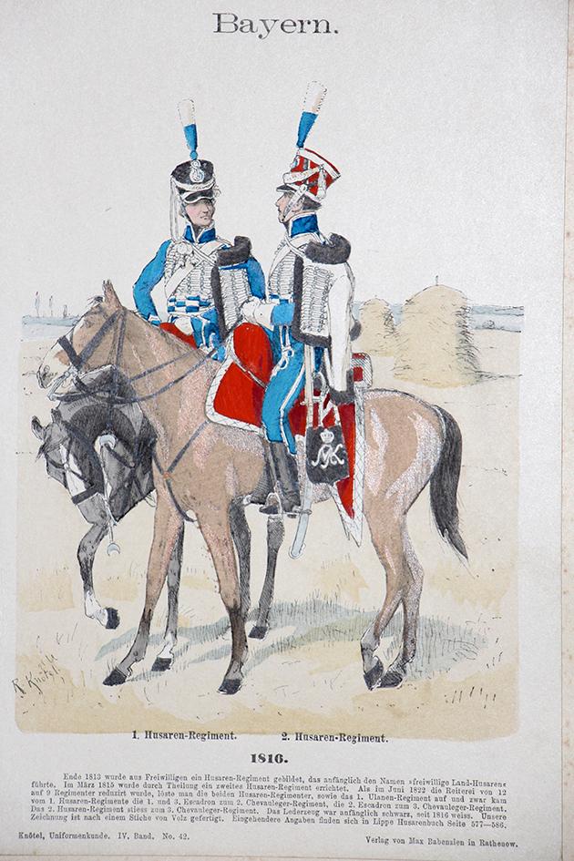 Bayern 1816 - Uniformenkunde - Richard Knötel - IV- Planche 42