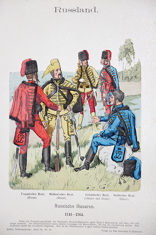 Russland 1741/1764 - Uniformenkunde - Richard Knötel - VI- Planche 46