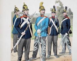 Baden 1849 - Uniformenkunde - Richard Knötel - VII- Planche 46