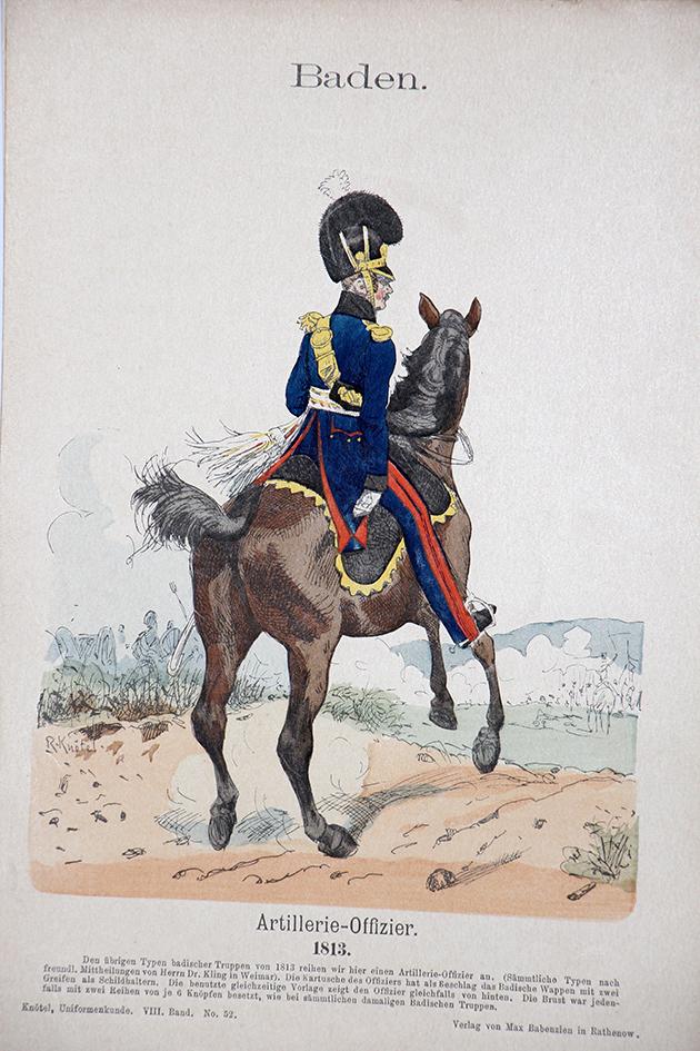 Baden 1813 - Uniformenkunde - Richard Knötel - VIII- Planche 52