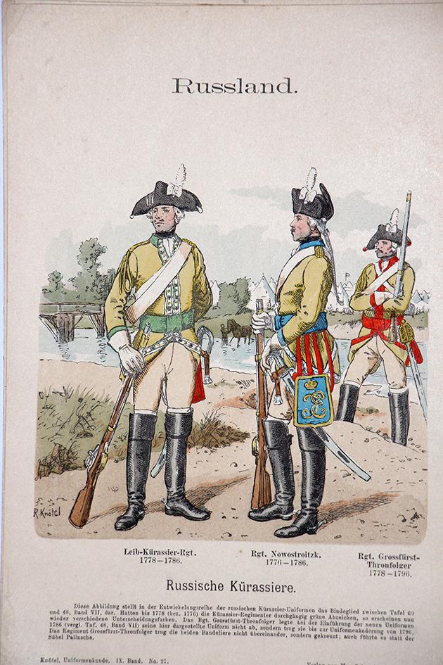 Russland 1778/1786 - Uniformenkunde - Richard Knötel - IX - Planche 27