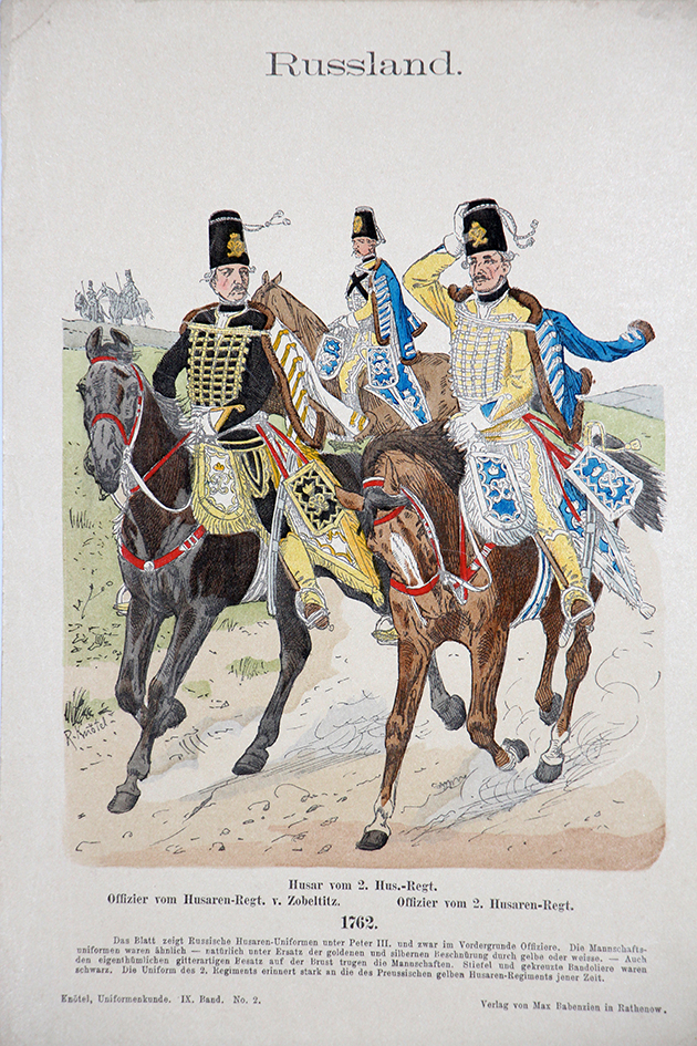 Russland 1762 - Uniformenkunde - Richard Knötel - IX - Planche 2