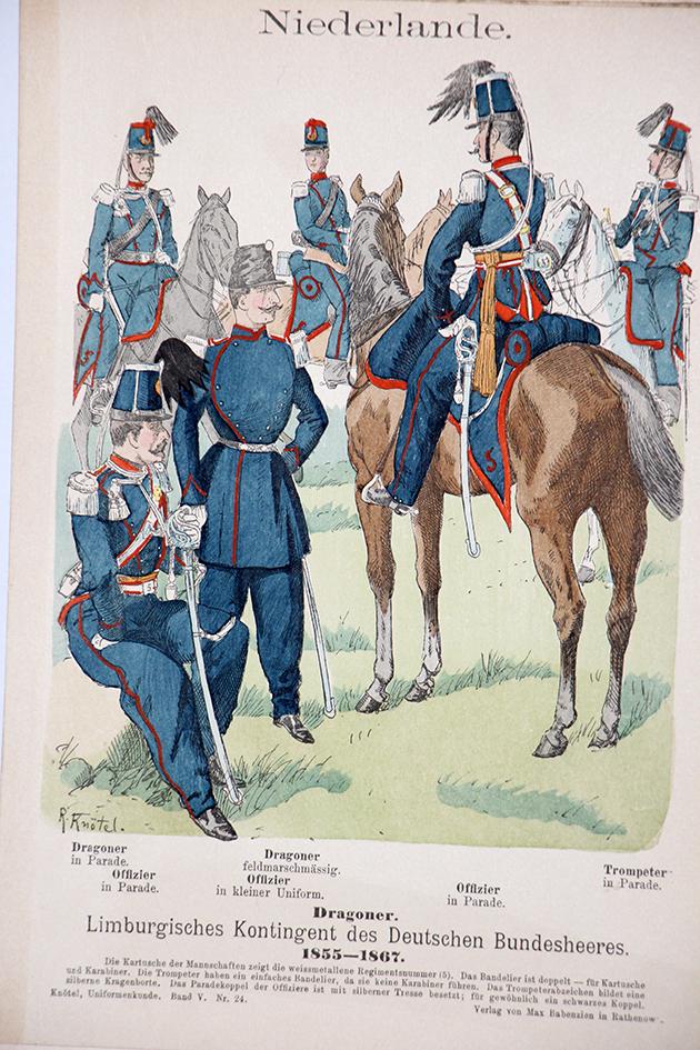Niederlande 1855-1867 - Uniformenkunde - Richard Knötel - V - Planche 24