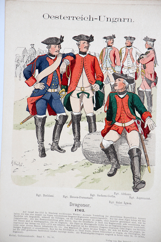 Oesterreich-Ungarn 1762 - Uniformenkunde - Richard Knötel - V - Planche 10