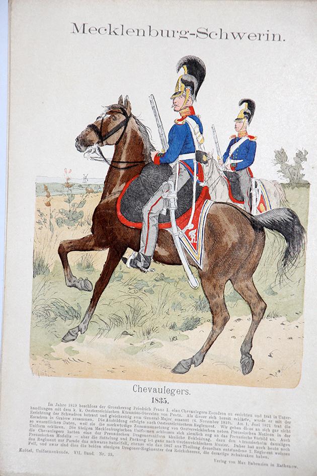 Mecklenburg -Schwerin - Uniformenkunde - Richard Knötel - VII - Planche 23